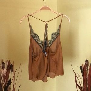 Free People Tops - Free People Starlight Cami Copper Brown XS